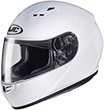 HJC Helmets CS-R3 Unisex-Adult Full Face Solid Motorcycle Helmet (White, Medium)