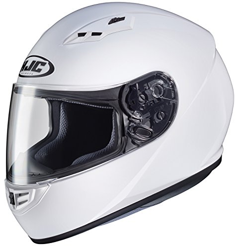 HJC Helmets 130-143CS-R3 Unisex-Adult Full Face Solid Motorcycle Helmet (White, Medium)