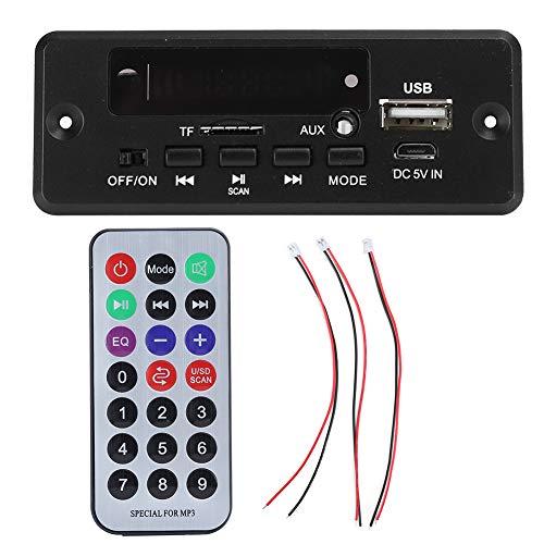 SANON Mp3 Placa Decodificadora Bluetooth Módulo de Reproductor Amplificador de Pantalla Digital 2X3w Suministros Negros