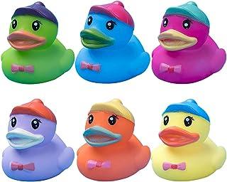 Licogel Bath Duck Toy Mini 6PCS Cute Adorable Interactive Realistic Bathtub Squeaky Toy Rubber Duck Shower Float