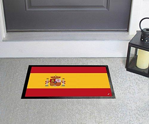1art1 España - Banderas del Mundo Felpudo Alfombra (60 x 40cm): Amazon.es: Hogar