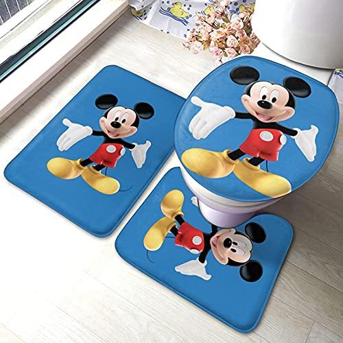 Arredo bagno, M-Ickey M-Ouse C-Lubhouse (6) Set di tappetini per bagno Set di 3 tappetini antiscivolo Tappetino da bagno + Contorno + Coperchio per WC Tappetino antiscivolo per bagno1774
