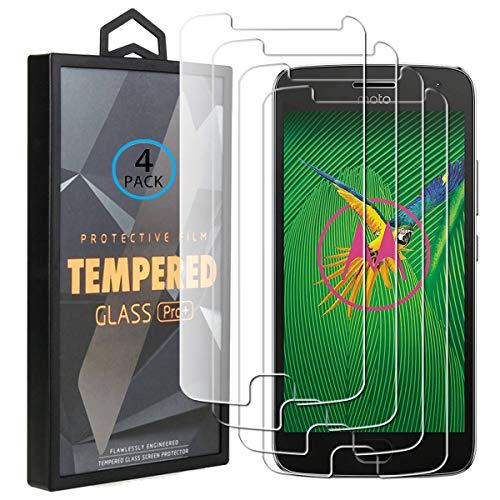 Ycloud 4 Pack Vidrio Templado Protector para Motorola Moto G5 Plus, [9H...