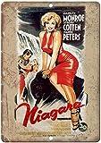 Niagara Marilyn Monroe Blechschilder Vintage Metall Poster
