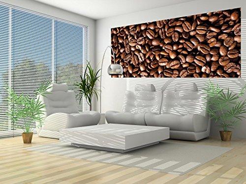 FORWALL Fototapete Poster Vlies Tapete Kaffeebohnen VEP (250cm. x 104cm.) Photo Wallpaper Mural AMF182VEP Kaffe Duft Kaffeebohnen Tasse Braun Kaffeemühle