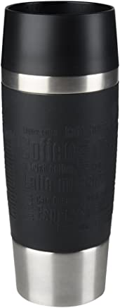 Emsa 513361 Travel Mug Standard-Design, Thermobecher, 360 ml, schwarz