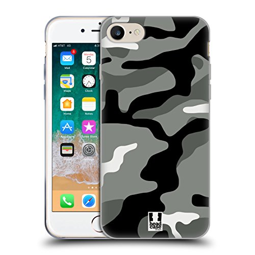 Head Hülle Designs Night Shift Militärische Tarnfarben Soft Gel Huelle kompatibel mit Apple iPhone 7 / iPhone 8 / iPhone SE 2020