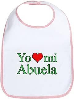 CafePress I love my grandma (Spanish) Bib Cloth Baby Bib