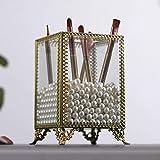 NONNO&ZGF Porte-Stylo Pinceau Maquillage Cadeaux pour Femme, Organisateur de Maquillage Vintage en Verre et...