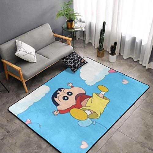 Meili Crayon Shin Chan Teppichbereich Schlafzimmer Camping Soft Mat Kinderdecken Zimmer Komfortable und langlebige Dekor Teppich 60 X 39 In