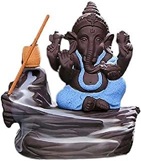 Decora Craft Polyresin Lord Bal Ganesha Smoke Fountain Showpiece, Standard, Blue