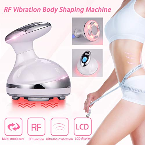 Fat Remover Machine 4 in 1 Body Shaping Machine RF Vibration Machine Red Light Weight Loss Massager for Stomach Radio Frequency Skin Tightening Machine with Smart LCD Display