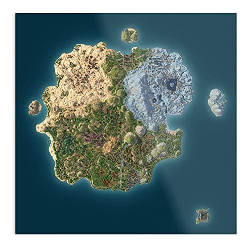 Realm Royale Map 8K - Poster decorativo per interni La più incredibile e la più elegante disponibile attualmente