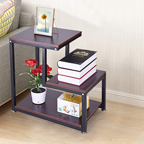 Sodoop Nightstand Storage Shelf, 3-Tier Chair Side Table Metal Night Stand Lamp Coffee Table for Living Room & Bedroom,Rustic End Table, Writing Desk Nightstand,Small Nightstands for Bedrooms