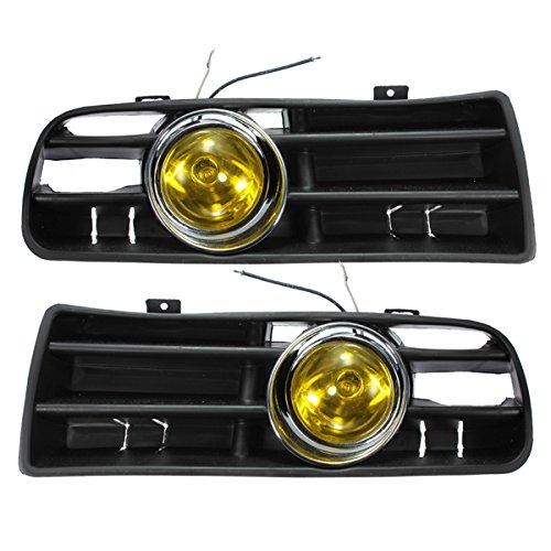 YONGYAO Feu De Brouillard Avant Jaune LED Light Grille Inférieure pour 98-04 VW Golf Mk4
