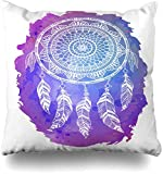 LongTrade Funda de Almohada Throw Pillow Case Circles Rain Pattern Purple Blue...