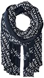 Armani Exchange All Over Logo Rectangle Mouchoirs, Multicolore (NAVY/WHITE 05AM), Taille unique Femme