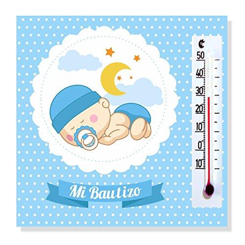 Recuerdos y Regalos de Bautizo y Baby Shower Niño Para Invitados - Imanes con termómetro como Detalle de Bautizo - Bonitos y Originales - Pack 20 unidades - ¡Vuestros Amigos y Familiares Alucinarán!