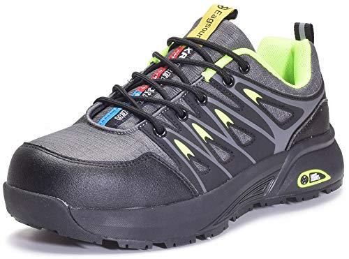 Scarpe da Lavoro Uomo Sneakers Antinfortunistica con Punta in Acciaio Traspiranti,Verde,42