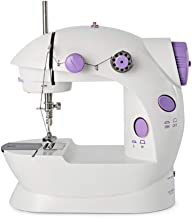 Portable Sewing Machine Mini Adjustable Electric 2-Speed Double Thread Handheld Sewing Embroidery Machine for Beginner Kids Straight Sewing with Foot Pedal