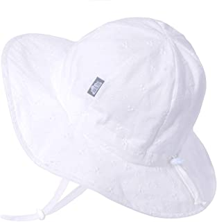JAN & JUL GRO-with-Me Cotton Floppy Adjustable Sun-Hat for Girls, UPF 50+ Breathable Cotton