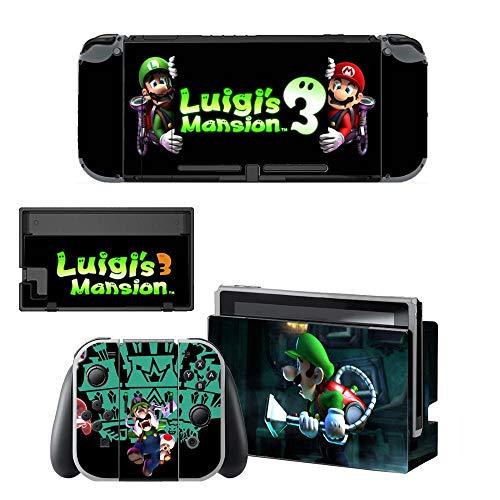 Wirelessaccessories Nintendo Switch Skin, Luigi's Mansion 3 Nintendo Switch Skin Sticker Nintendo Switch Stickers Skins for Nintendo Switch Console and Joy-Con Controller-Qbysns0229