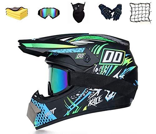 Casco de Motocross,Juvenil Casco de Motocicleta para niños,Cruzado para Bicicleta de montaña ATV BMX Downhill Offroad,para Motocicleta Cross Bike Off Road Enduro Sport Casco de Motocross (XL)