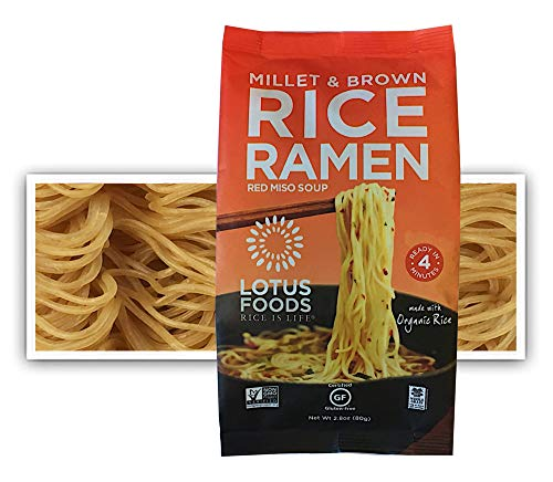 Lotus Foods Millet & Brown Rice Ramen With Miso Soup, Gluten-Free, 2.8 Oz (Pack Of 10)
