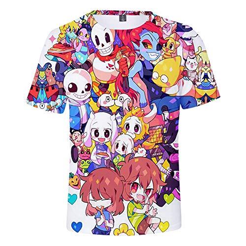 Undertale Camiseta Camiseta Tops de Manga Corta Juego de Personalidad Camisetas de impresión de Dibujos Animados Camisetas básicas