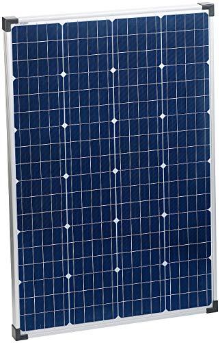 reVolt Solarzellen: Mobiles Monokristallines Solarpanel inkl. 5m Kabel, 110 Watt (Solarplatte)