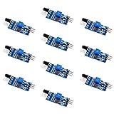 infrarrojos evitar obstáculos sensor módulo detección distancia Interruptor fotoeléctrico para de por infrarrojos para Arduino DIYmalls (Pack of 10)