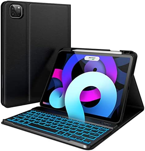 iPad Air 4th Generation Case with Keyboard 2020 10 9 inch Pencil Charging Holder 7 Color Backlit product image