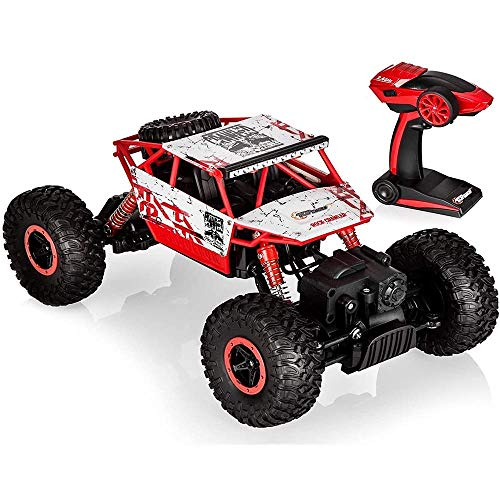 N&G Daily Equipment Remote Control Monster Truck 2.4GHz Radio Control 4WD Off Road Car Big Foot All Terrain RC Racing Vehicle Toy for Kids Adults (Size : 1 Battery)