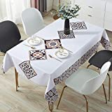 DJUX Home Decoration Tablecloth Waterproof, Anti-Scald, Oil-Proof, Disposable PVC Table Mat, Desk Cloth,...