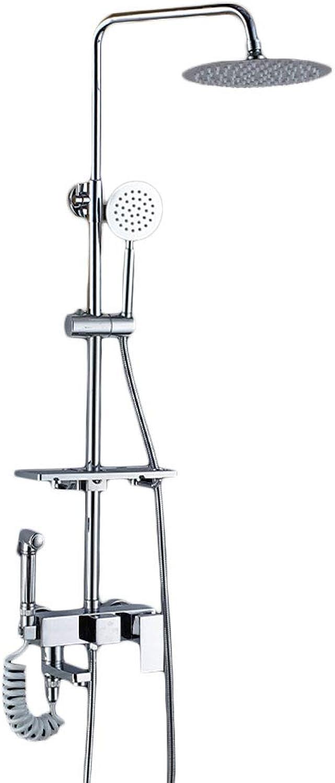 YHNUJMIK Dusche gesetzt alle Kupfer Hause Blaume Bad Dusche Badezimmer Badezimmer Dusche Dusche Blaume Wand hngen Viergang-Dusche mit Spritzpistole,B