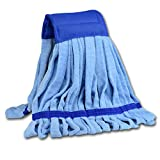 Medium Microfiber Tube Mop (14 oz.)   Industrial Wet Mop Head Refill, Replacement Heads, Commercial, Machine Washable, Heavy Duty, Cleaning Supplies   Hardwood, Tile, Laminate, Vinyl Floors (Blue)