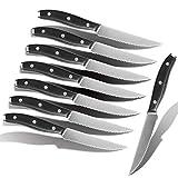 LONSDOW Steak Knives Set of 8 Serrated - Steak Knifes Set of 8 Dishwasher Safe Steak Knives