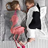 Screenes Baby Swaddle Blanket Cute Flamingo Soft Kids Crochet Knitting Blanket...