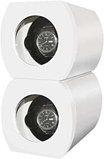 CHIYODA Dual Automatic Watch Winder with Double Quiet Mabuchi Motors-Piano - White