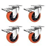 Firlarm - Ruedas palets giratorias 100mm, 550KG ruedas palets 4 pulgadas (paquete de 4)
