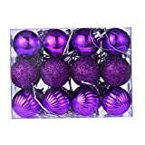 Navidad Hogar Decoración 24ct Bolas De Navidad 30mm Árbol De Navidad Bolas De La Puerta De La Puerta De La Puerta De La Puerta Adornos De La Pared del Árbol De Las Bolas Decorativas del Árbol Fiesta