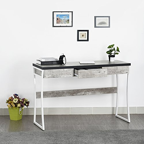 Homy Casa Home Office Desk Writing Table with Drawers, Dressing Console Table