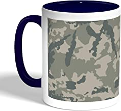كوب سيراميك للقهوة بتصميم لباس الجيش، لون ازرق