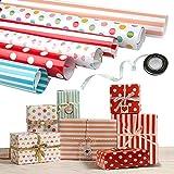 Papel Para Envolver Regalos, Joeyer 6 Hojas Envoltura Colorido (Doblados) Para Cumpleaños...