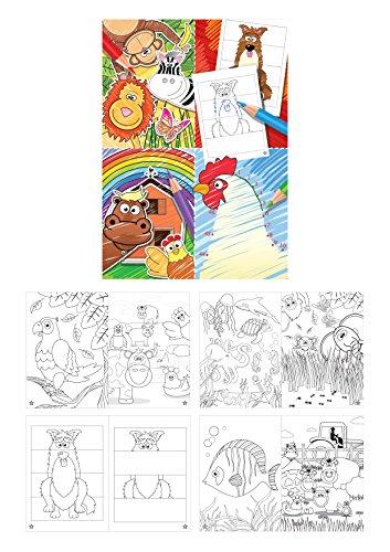 KINPARTY ® - 12 Libros con dibujos para colorear – Para regalos, cumpleaños, piñatas – Arte infantil – Material educativo