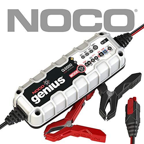 NOCO Genius G3500EU 6V / 12V 3.5 Amp Cargador de batería inteligente y mantenedor para auto, moto y más