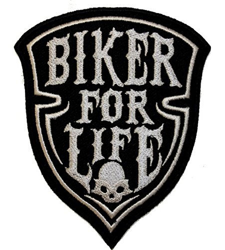 Toppa//Iron on Patch Biker For Life
