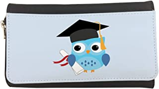 Graduation - Owl picture Printed Leather Case Wallet