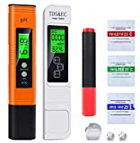 pH and TDS Meter Combo Water Quality Test Meter 4 in 1 Kit,