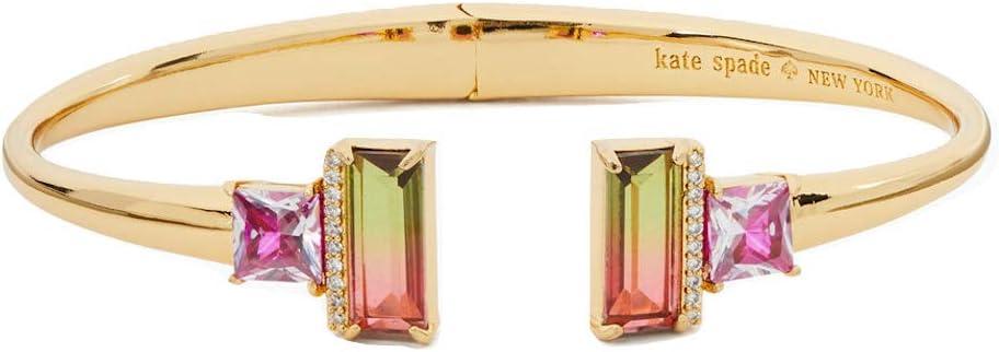 Kate Spade New Large discharge sale York Geo Bracelet Hinged Open Translated Bangle Gems